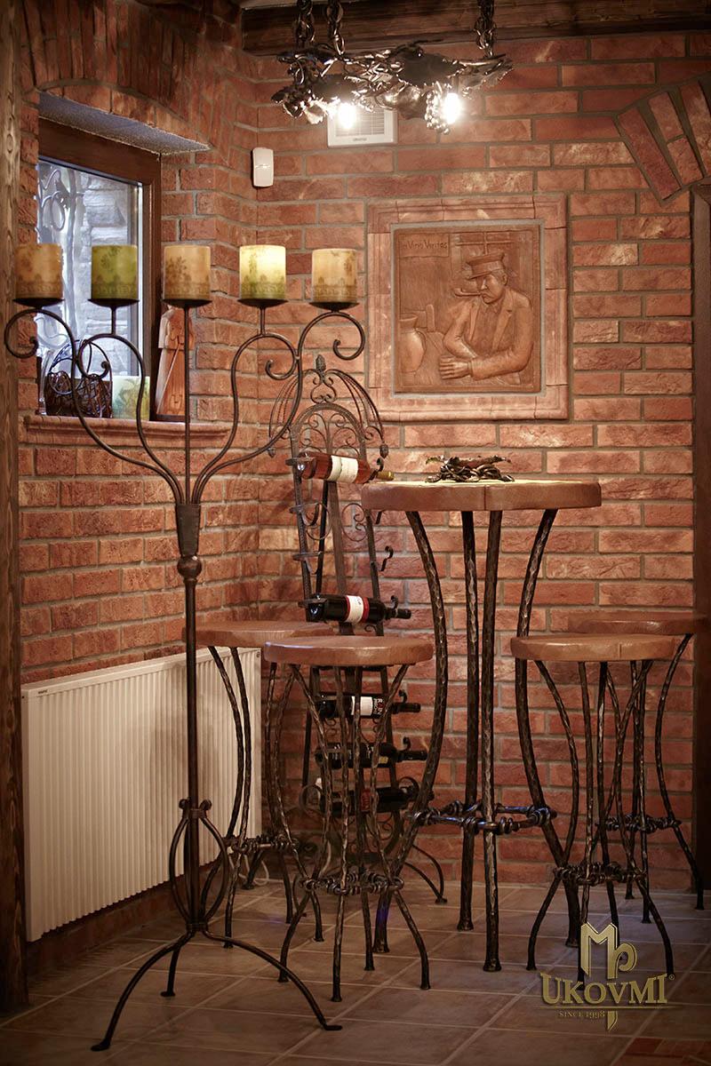 Chaises et tables ferronnerie d 39 art ukovmi for Table bar fer forge