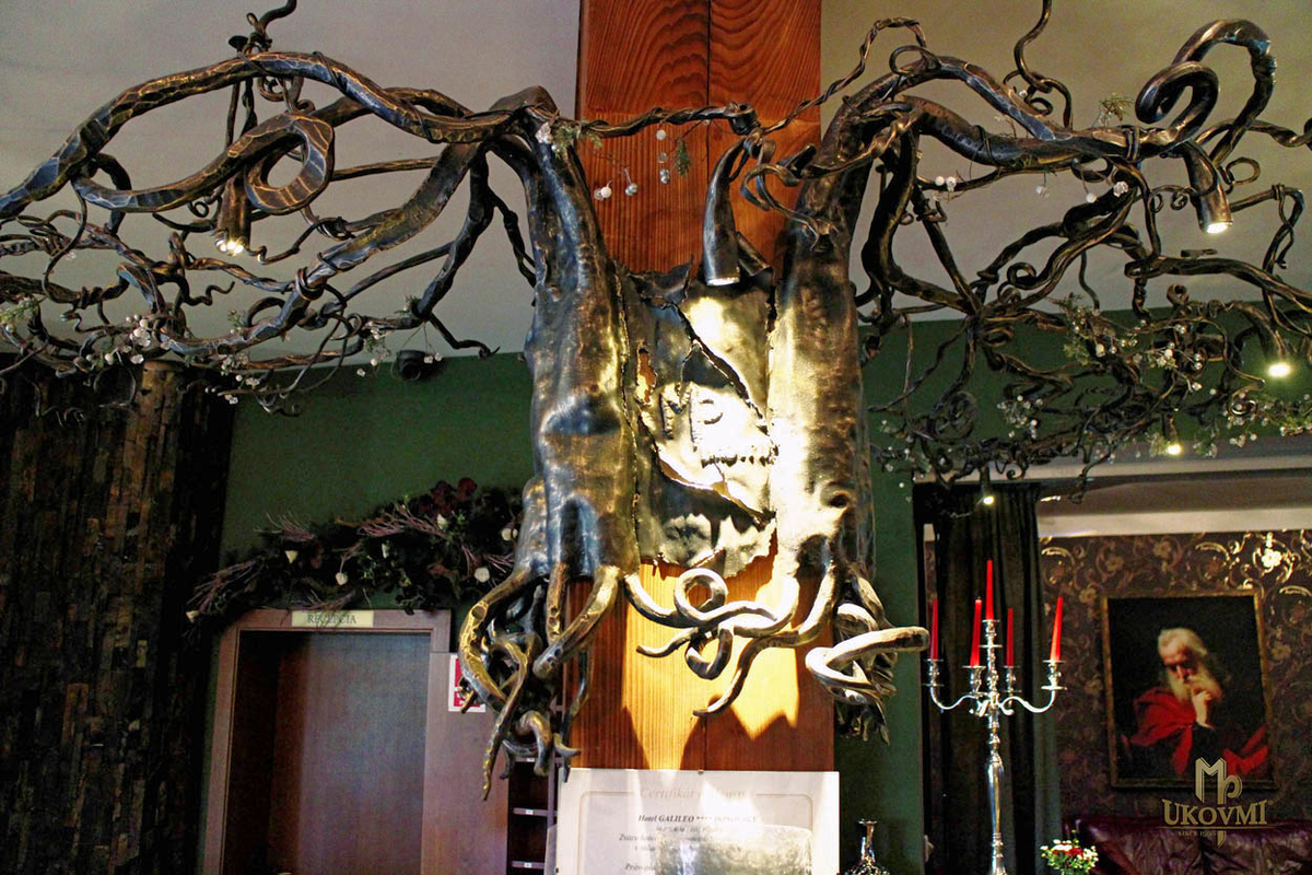 Hotel galileo donovaly slovakia artistic blacksmith ukovmi a wrought iron chandelier roots hotel galileo reception donovaly mozeypictures Image collections