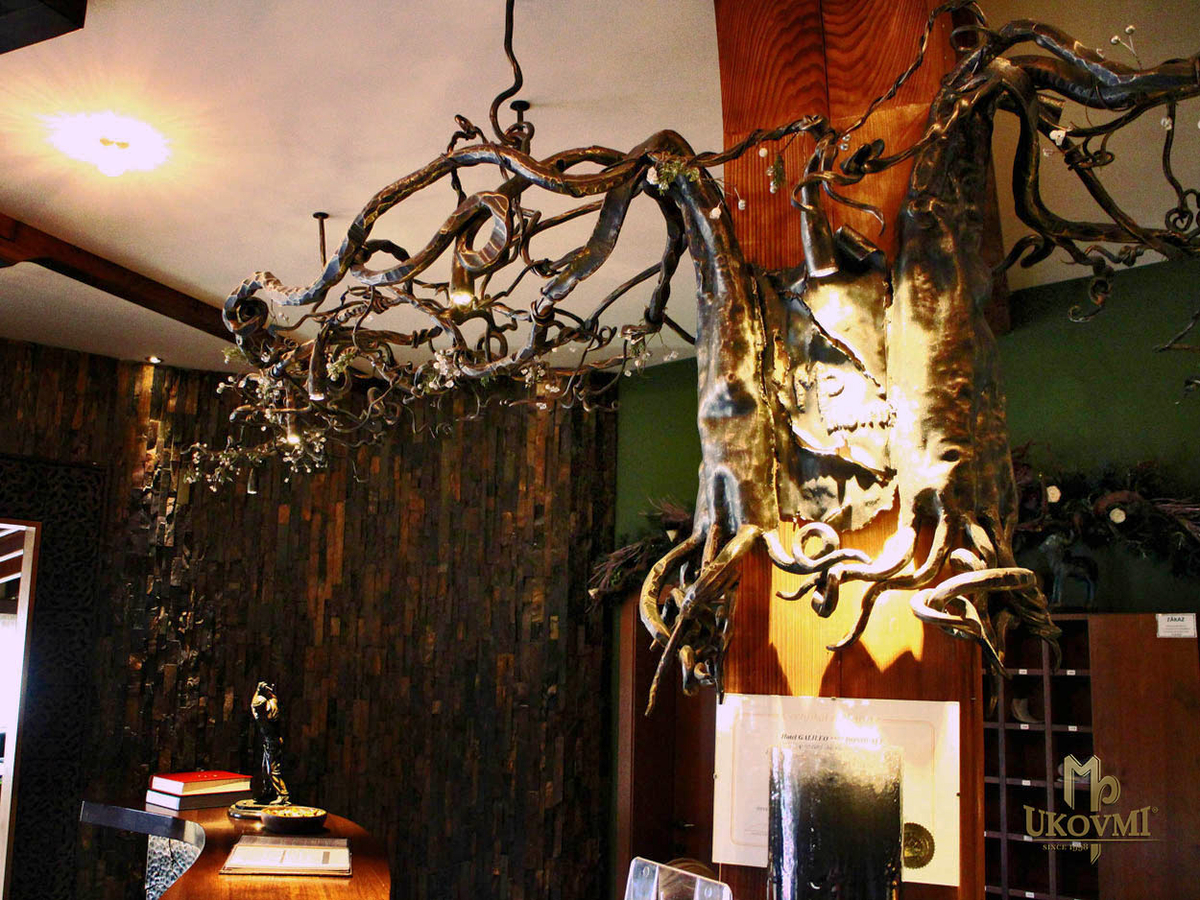 Hotel galileo donovaly slovakia artistic blacksmith ukovmi artistic hand forged chandelier with the motif of nature luxurious lighting mozeypictures Image collections