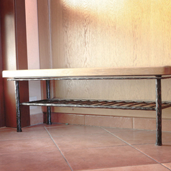 A wrought iron shoe-rack - wrought iron furniture