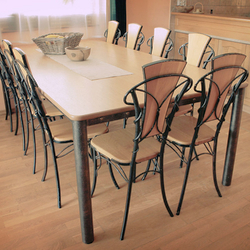 Exclusive wrought iron table and chairs