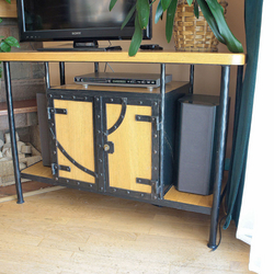 Wrought iron chest of drawers for TV