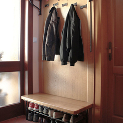 Wrought iron hangers and shoe-rack - wrought iron furniture