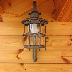 Exclusive wrought iron lamp for side cottage lighting - exterior lights