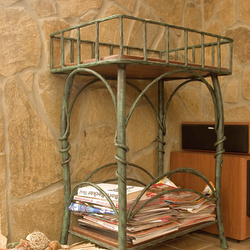A wrought iron shelf - rustic furniture