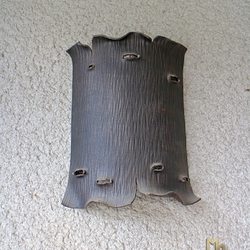 A side wrought iron light