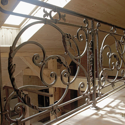 A hand forged railing