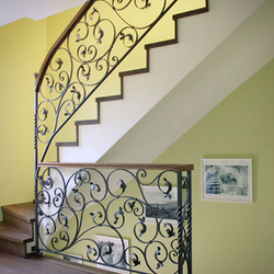Exclusive interior staircase railings -a hand forged railing in Germany