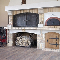 Wrought iron fireplace accessories