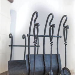 Hand-forged fireplace sets