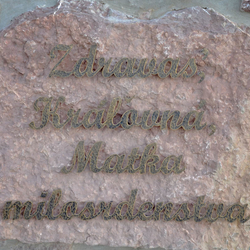 A wrought iron sign made for the youngest pilgrimage place in Slovakia - Butkov