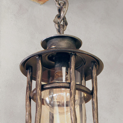 A wrought iron hanging light Granny - a luxurious light in country style