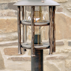 A wrought iron standard lamp Granny - a luxurious garden lamp