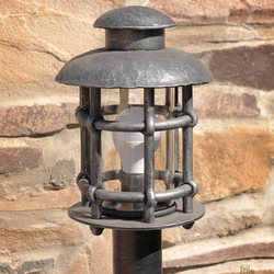 Wrought iron standard lamp CLASSIC M -  lighting illuminates driveways, gardens and yard