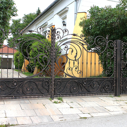 Luxury hand-forged gate in romantic style with a touch of Art Nouveau
