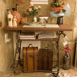 A hand wrought iron table - rustic furniture