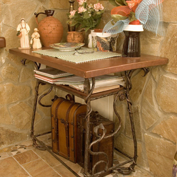 Artistic furniture - a wrought iron table