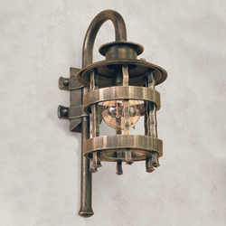 A wrought iron wall light - Historical