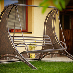 Hand-wrought iron swing for relaxation and leisure – garden furniture