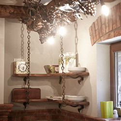 Wrought iron cellar accessories