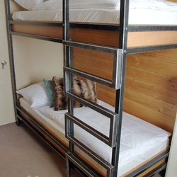 A modern iron bunk bed