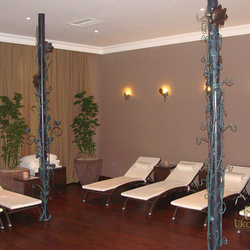 Wrought iron accessories collection in Grant Hotel Prague wellness centre