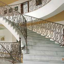 Spiral wrought iron stair railing
