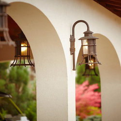 Wrought iron lighting for luxurious parking garages