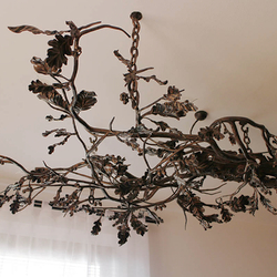 A hand-forged chandelier inspired by nature