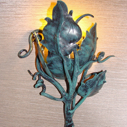 A luxury light -  side wrought iron lamp Sunflower