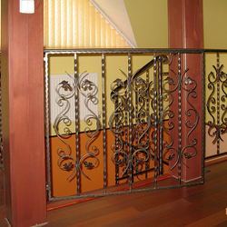 A wrought iron railing - a simple classic