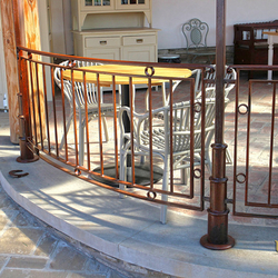 Metal railing in an industrial style - An exterior railing