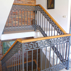 Luxury interior railings in an antique style