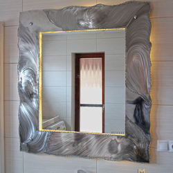 A luxurious bathroom mirror with illumination