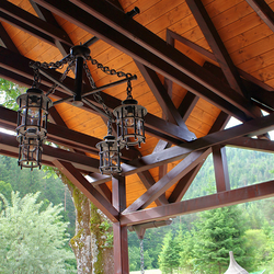 forged lighting, luxury lighting, quality lighting, outdoor lighting, gazebo lighting