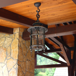 High-quality pendant lamp CLASSIC / T used for summer gazebo lighting – hand-forged lamp