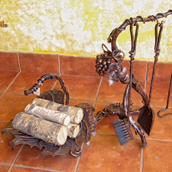 Treat your house to a wrought iron set - grapes