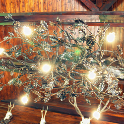A wrought iron chandelier - An interior lighting