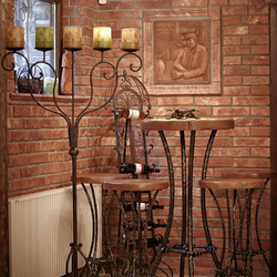 The Baroque wrought iron table and chairs - luxury furniture