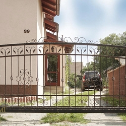 A gate from wrought iron elements - A simple gate
