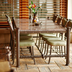 Luxury wrought iron table and chairs