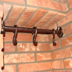 A wrought iron hanger with country style design - wrought iron furniture