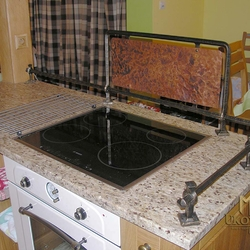 Wrought iron kitchen accessories in the kitchen