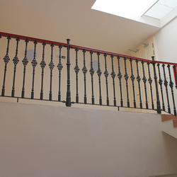 Hand wrought iron interior staircase railing - staircase railings in a historic house