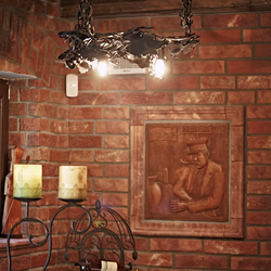 A wrought iron light Grapevine - a luxury light