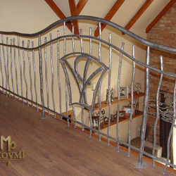 A wrought iron railing - interior - gallery