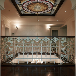 Luxurious interior railing in a family house - gallery