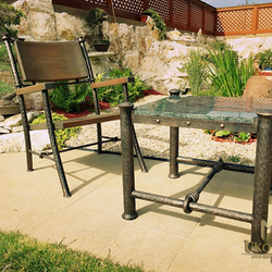Exclusive wrought iron table and chairs - a luxurious furniture